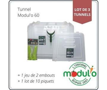 Set of 3 tunnels Modul'o 60