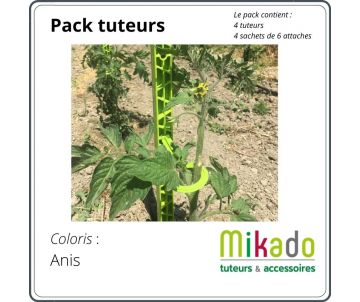 pack Garden stake - lime green