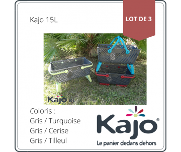 Set of 3 baskets Kajo 15L -...