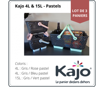 Set of 3 baskets Kajo : 1 x...