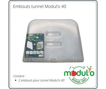 Embouts tunnels Modul'o 40 x2